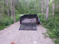 Solid Utility Trailer with drop down ramp