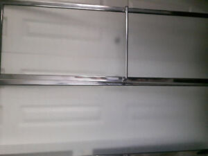 Used shower doors and double  kitchen sink stainless steel