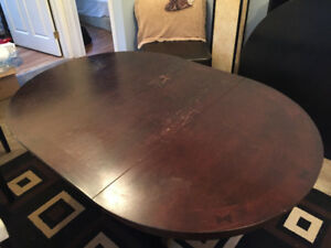 Espresso dining table with 3 chairs