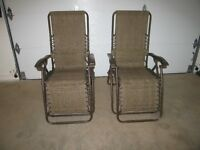 Two Zero Clearance Chairs - Like New