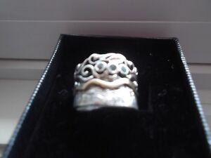 BRAND NEW!! 14 kt Gold & Ster. Slvr. OCEANIC RING Size 7  $85