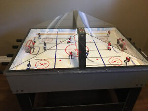 Stand alone electronic hockey game