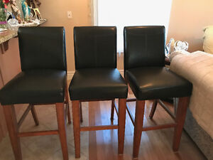 Three Barley Used Bar Chairs For Sale as a Set or Seperate