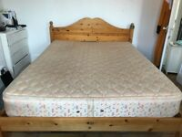Pine King Size Double Bed