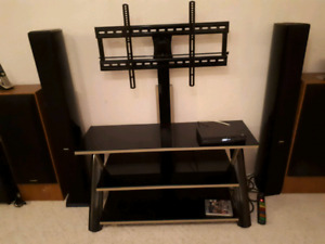 3 in 1 Glass TV stand