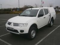 2013 MITSUBISHI L200 4WORK 2.5DI-D CR 4WD DOUBLE CAB PICK UP TRUCK 4X4 WHITE