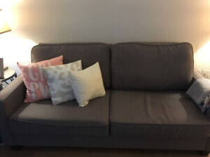 Brown two-seater couch for sale! Last chance!