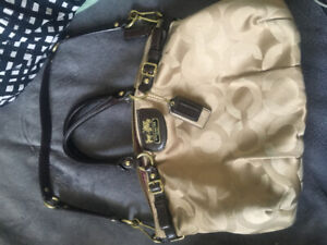 Authentic Coach Purse - Leather Handles and Details