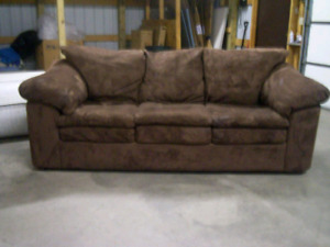 Brown microsuade couch 250$ obo