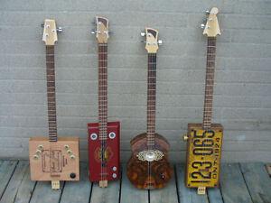 Artisan crafted Cigar Box Guitar ELECTRIC
