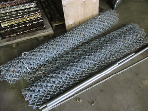 Galvanized Metal Chain Link Fence 6 Foot High 27.5 Feet