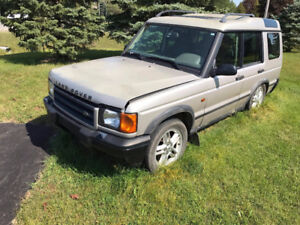 PARTS CAR 2002 Land Rover Discovery SUV, Crossover