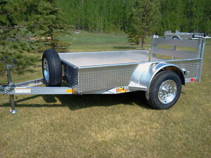 5' x 8' NEW! ALUMINUM Utility Trailer with Folding Ramp