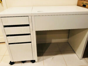 IKEA Office Desk, Drawer, and Chair Combination!