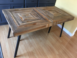 Barely used rustic teak dining room table