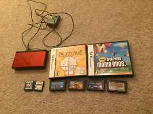Nintendo DS Lite and 8 games.
