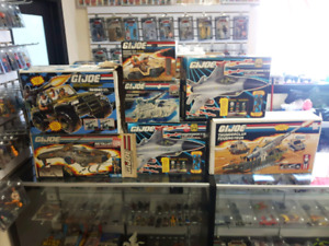Canadian G.I. Joe vehicle boxes for sale