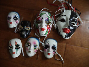 Porcelain Masks Wall Decoration, 7
