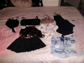 Bundle of 9 Pieces of Size 6-8 Clothes