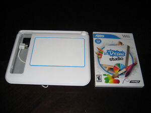 NEW PRICE U Draw Studio Tablet and Game Disc