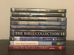 Collection of Nine Christian DVDs
