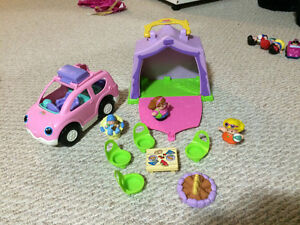Little people car and tent