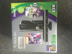 250 GB Xbox 360 Kinect w/ games and accessories