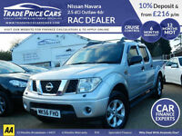GUARANTEED CAR FINANCE Nissan Navara 2.5 dCi Outlaw 4dr - RAC DEALER