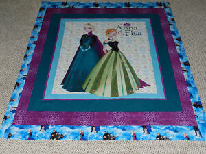 a New Anna & Elsa quilt with flannelette backing