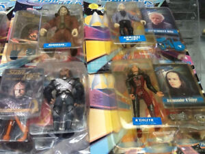 star trek figures in there packages