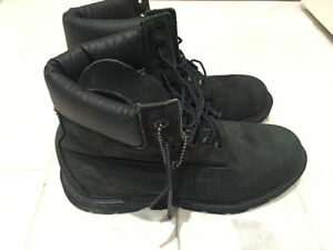 Men's Timberland Black Boots Size 7.5