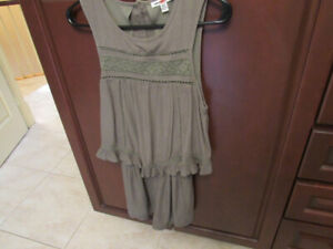 American Eagle Romper,  sage green, open back, size small new