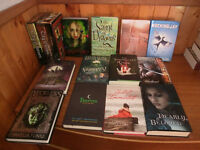 Variety of different fiction novels