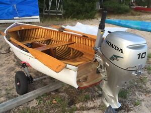 Classic Wooden Sailing Dinghy