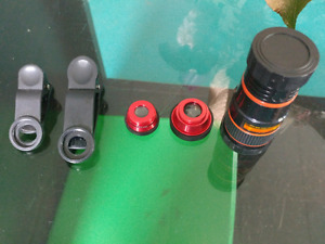 Clip on, cell phone camera lenses