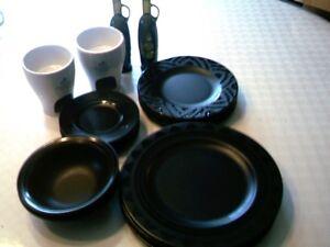 kit vaisselle noire