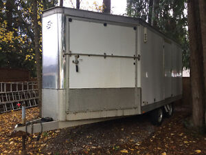 08 Wells Cargo 19' 2/3 place sled trailer