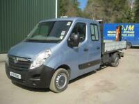 Vauxhall Movano H1 Double cab tipper with crane