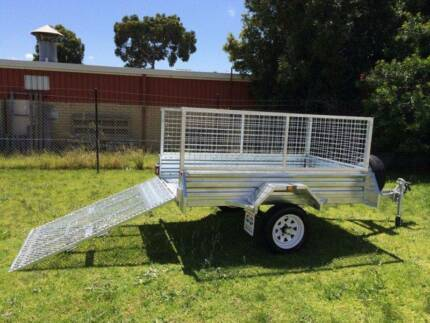 Month Special! 7x4 Gal Ramp Box Cage Lawn Mower Bike Trailer