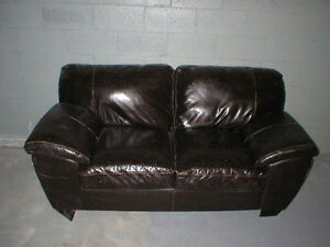 SOFA DIVAN CUIR CUIRETTE LEATHER 2 PLACES