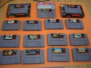 (14)  SUPER NINTENDO GAMES CARRIER ACES, ASP, NHL STANLEY CUP London Ontario image 3
