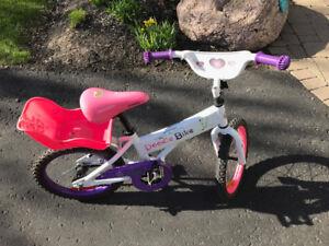 "Girls 16"" wheel doodle bike"