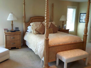 Beautiful Stunning 5 Piece Full Queen Bedroom Suite