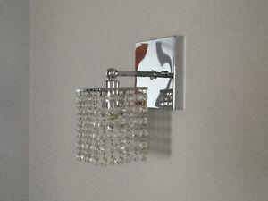 Lampe chromée à bijoux style crystal