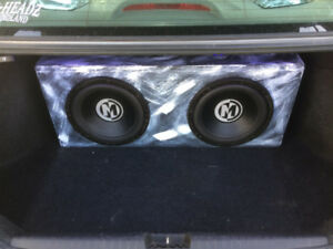 TWO 12 INCH MEMPHIS SUBWOOFERS AND A ALPINE AMP