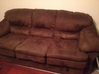 9 month old couch & loveseat set