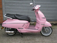 Peugeot Django 50cc Ltd edition ID model Deep Pink Brand New