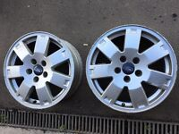 """Two 16"""" Ford Mondeo alloys 5x108 ideal for winter tyres"""