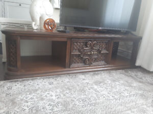 Solid wood TV cabinet & side table