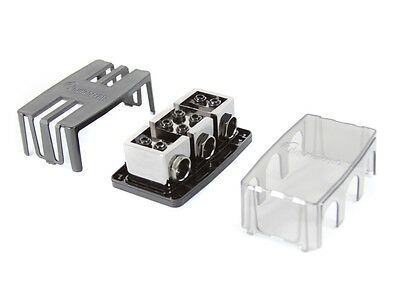 KnuKonceptz KNF36 2 Way 1/0 Gauge Fuse Distribution Block Dual 1/0 Out w/ Fuses